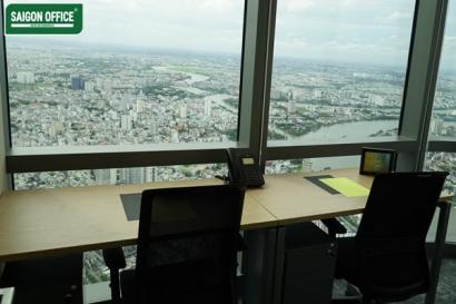 phòng có view sông Saigon cho 4 người làm việc