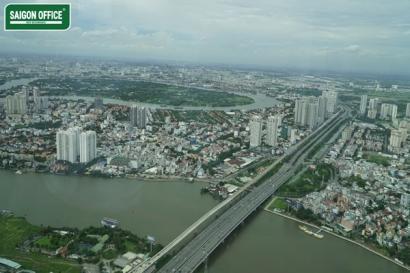 View Cầu Sài Gòn và khu Thảo Điền
